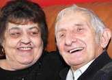 Carer Doris and husband Richard Blanckley who has dementia and Parkinson's