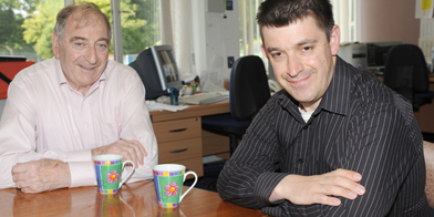 Les Scaife (left) cares for son Brian (right) who has learning disabilities