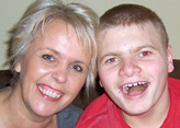 Carer Gail Hanrahan (left), with son Guy, who has a learning disability
