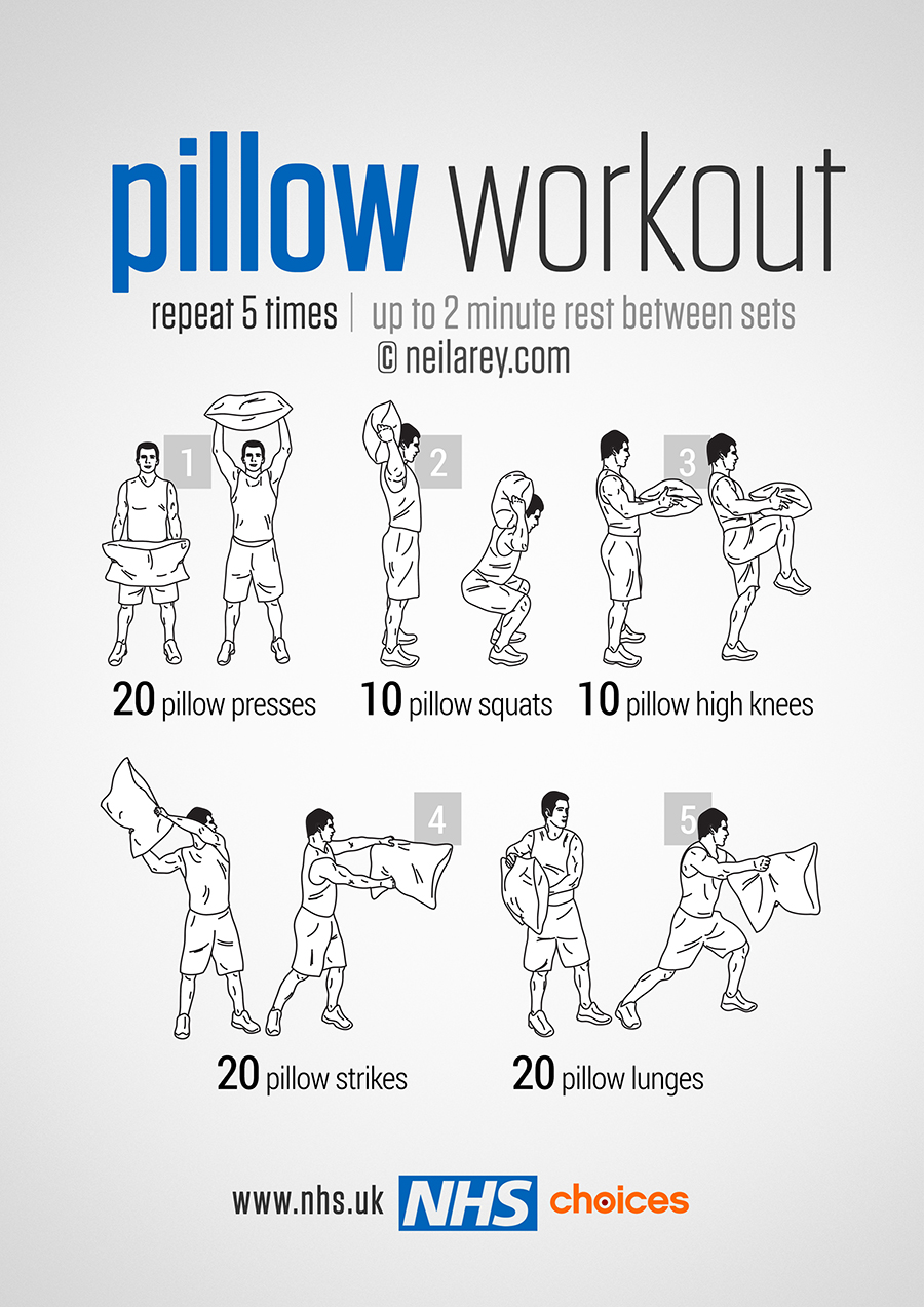 Gym free workouts live well nhs choices pillow workout nvjuhfo Choice Image