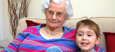 Betty Shaw with one of her grandchildren