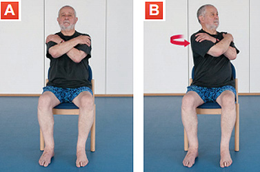 Image result for seated upper body stretch elderly