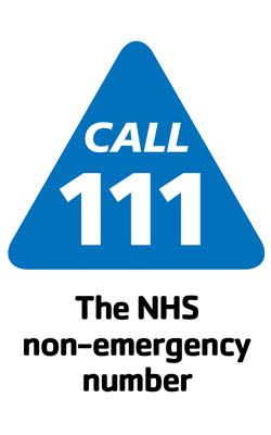 The NHS non-emergency number
