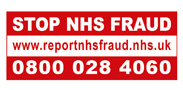 Stop NHS fraud, call 0800 028 4060