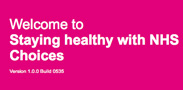 Welcome to Staying healthy with NHS Choices