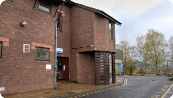 The entrance to Ludlow Hospital