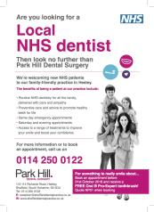Overview Parkhill Dental Practice Sheffield Nhs