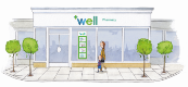drawing of a well store