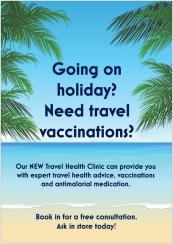 travel health clinic poster