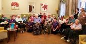 Staff and residents at Foxgrove