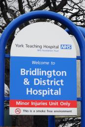 Bridlington Hospital signage