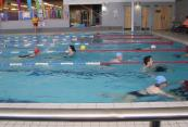 Swimming to compete in the Skipton Triathlon