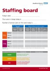 Bradford District Care Trust staffing board