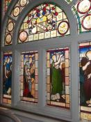 Original stained glass window