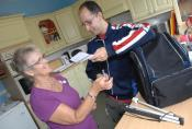 We provide support with household tasks including shopping and cooking