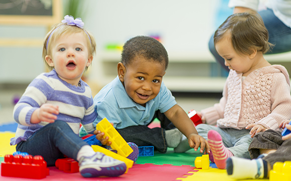 group of toddlers at playgroup